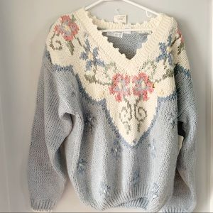 Vintage Maggy Lawrence Vneck Chunky Sweater NWT